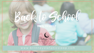 back to school sleep tips for families