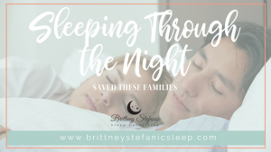Sleeping through the night saved these families
