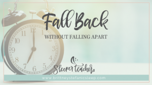 Clock for symbol of fall back for daylight saving time