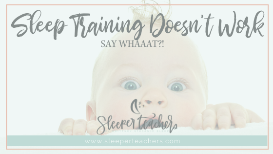 Baby is surprised that sleep training doesn't work.